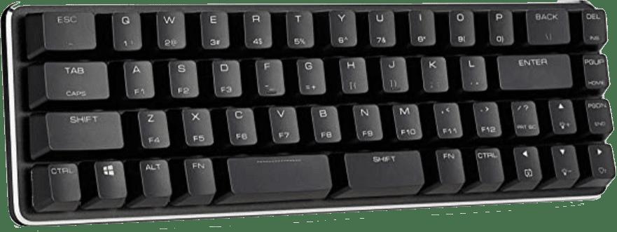 Qisan Mini 49 Gateron Clear Mechanical Gaming Keyboard
