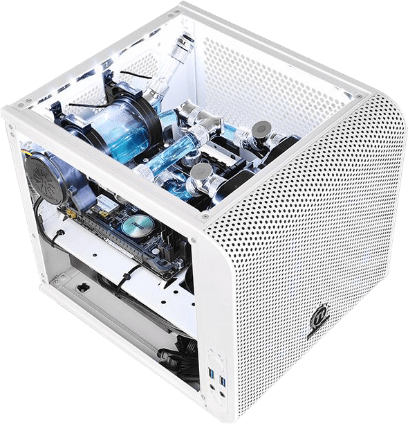 Thermaltake Core v1 Snow Edition White PC Case