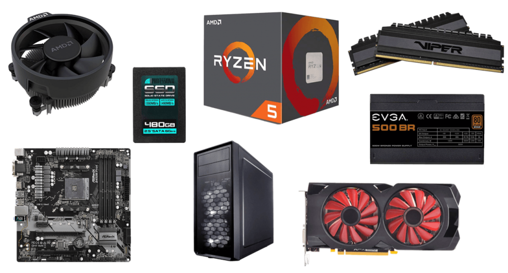 budget 500 dollar gaming pc build