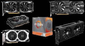 best graphics cards for ryzen 9 3900x 3950x