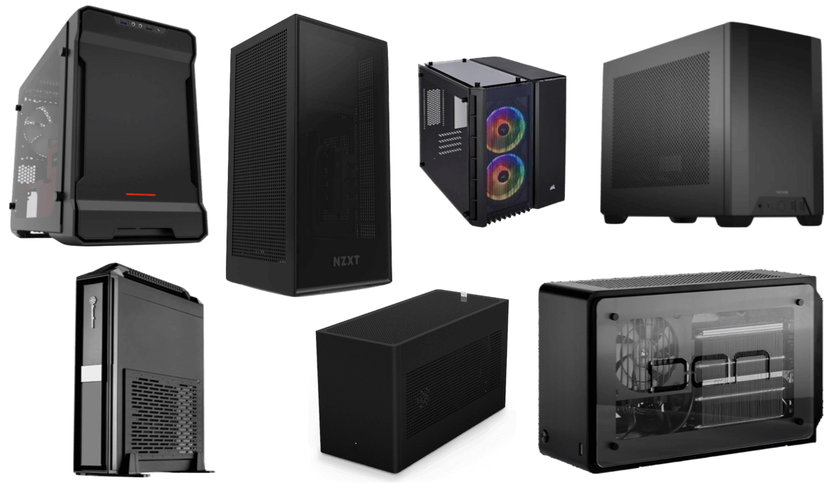 smallest itx cases that fit full size gpu