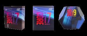intel core i7-8700k vs 9700k vs i9-9900k
