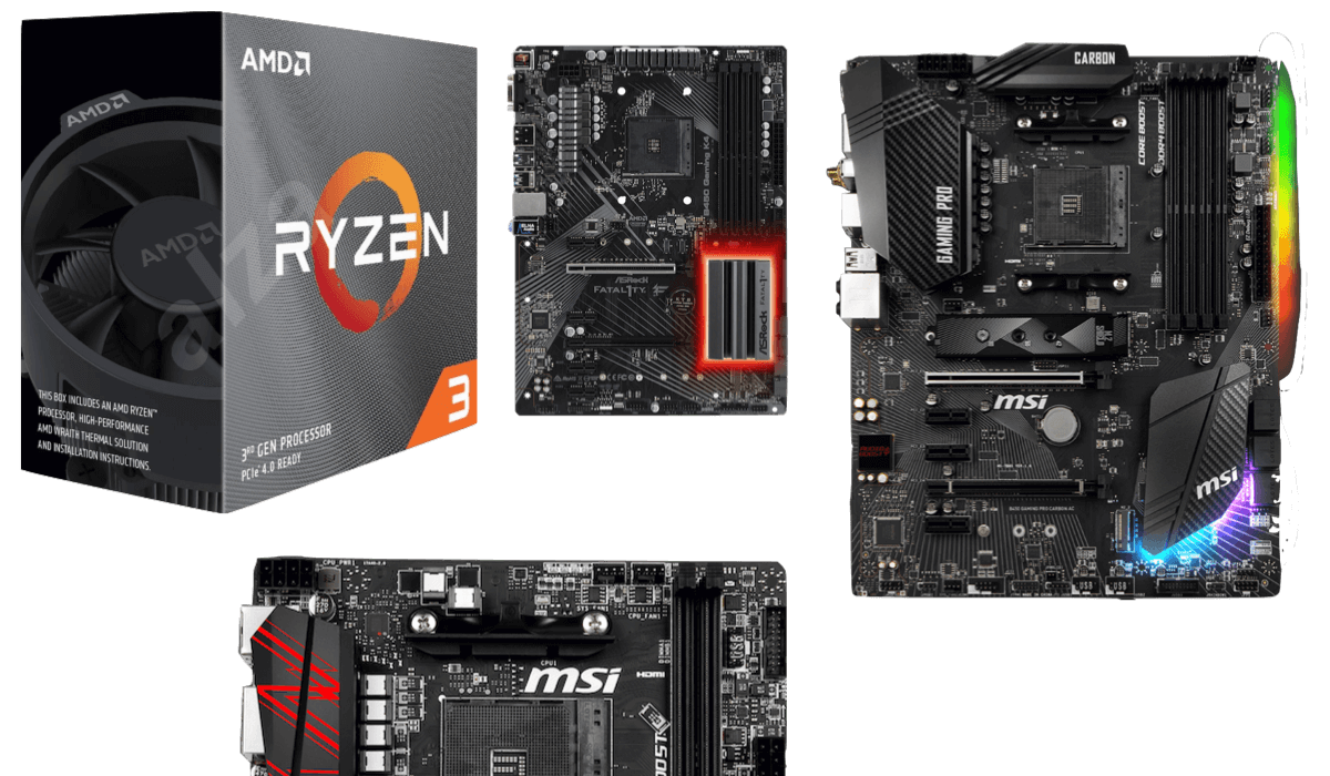best motherboards for 3300x & 3100