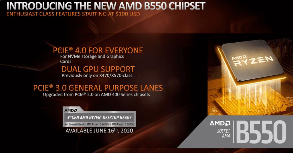 B550 chipset summary
