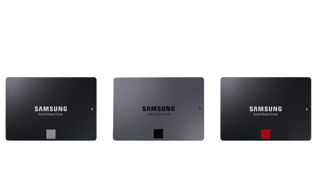 860 evo vs 860 qvo vs 860 pro