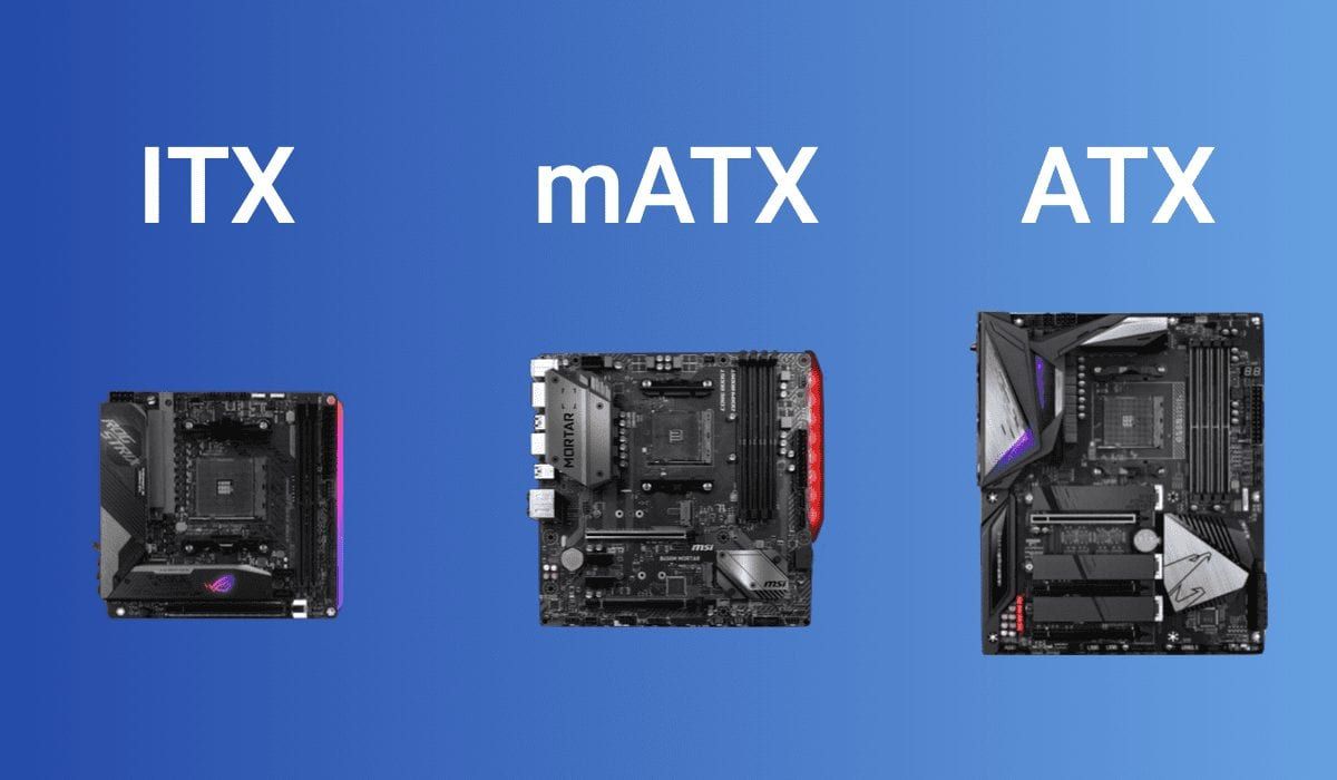 itx vs atx vs matx comparison