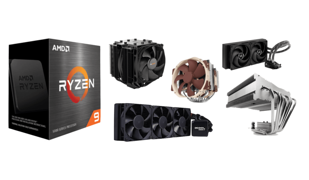 best cpu coolers for ryzen 9 5950x 5900x