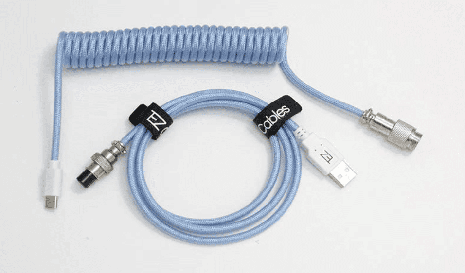 Tez Cables Z-Series Custom Coiled Aviator USB-C Keyboard Cable
