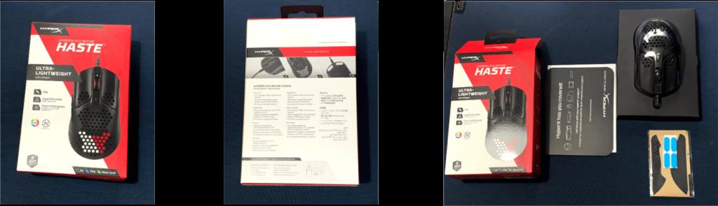 HyperX Pulsefire Haste Packaging