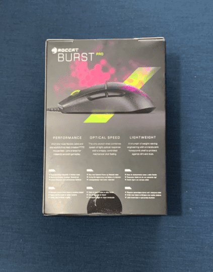 Roccat Burst Pro Review Packaging Back