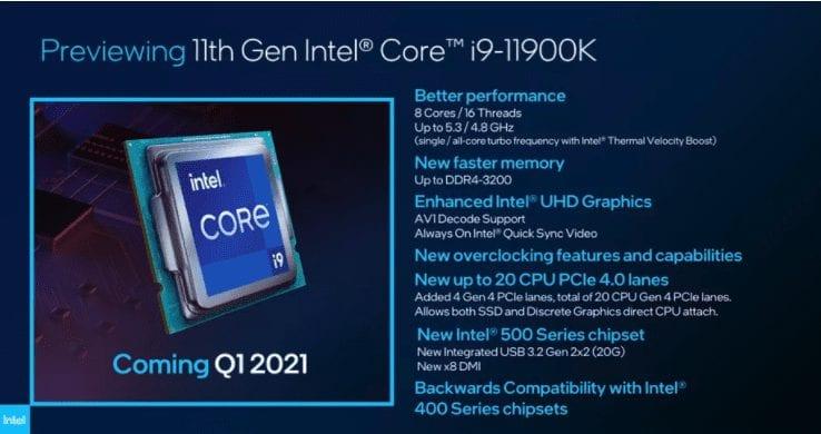 i9-11900K preview
