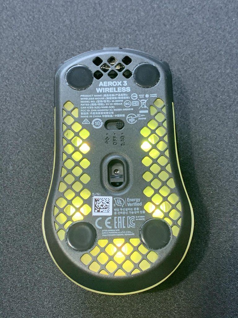 Aerox 3 Wireless Sensor position for sensor section review