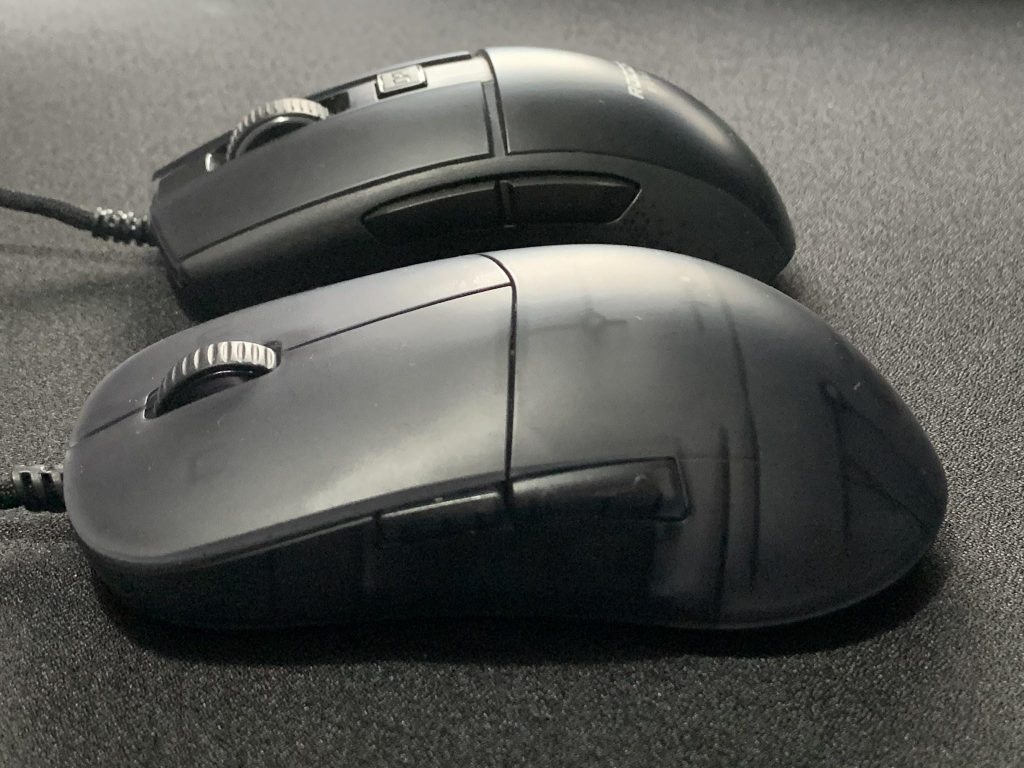 XM1r vs Burst Pro Side view for XM1r review