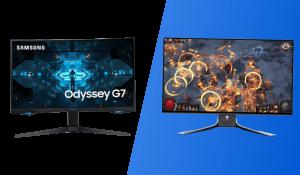 dell alienware aw2721D vs samsung odyssey g7