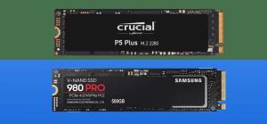 crucial p5 plus vs samsung 980 pro